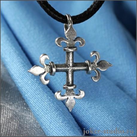Готический кулон крест - купить серебряную бижутерию подростку