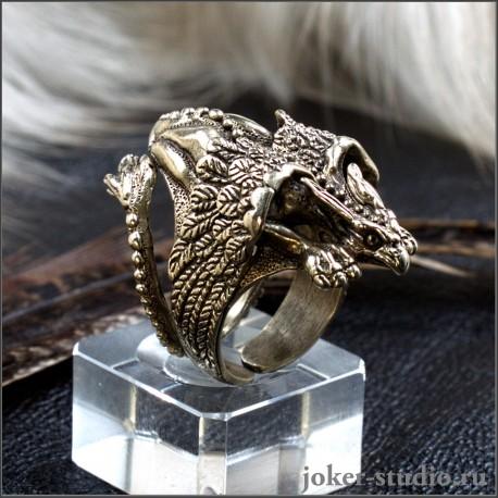 Кольцо Грифон ювелирная ручная работа в стиле фентези
