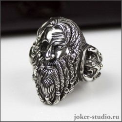 Перстень череп пирата Тича мужское ювелирное украшение с пиратской символикой