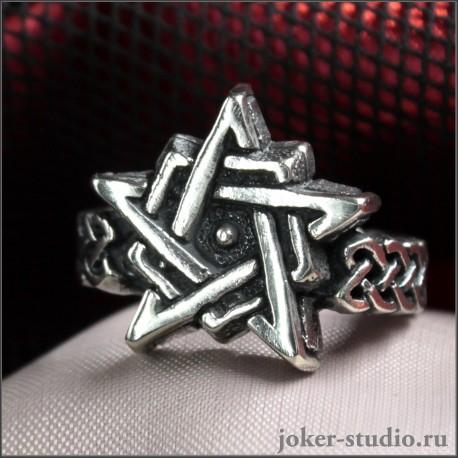 кольцо пентаграмма купить в рок-магазине Джокер