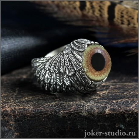 Кольцо с крыльями Ангела и глазом орла атрибут солнечных богов