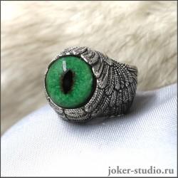 Кольцо в виде крыльев с глазом кота Нибелунга талисман кошка значение