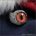 Женское кольцо с глазом Лисы ювелирное украшение ручной работы