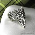 Кельтское кольцо оригинальной формы символ ирландской богини Даны
