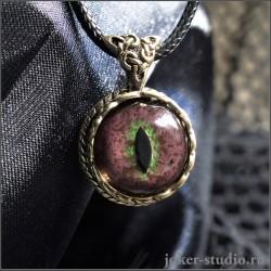 Талисман Змея | Кулон с глазом Анаконды в кельтском украшении из золотой бронзы