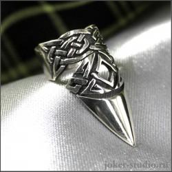 """Кольцо коготь """"Бран"""" с кельтским узором на ногтевую фалангу"""