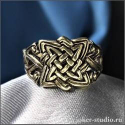 Мужское кольцо из бронзы со знаком Сварога – выбор славянских украшений по лучшим ценам