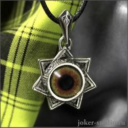 Звезда Магов амулет с глазом орла символом верховной власти украшение ручной работы