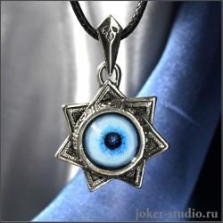 Звезда Магов амулет септаграмма с глазом Сибирской Хаски символом дружбы и верности