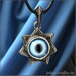 """Талисман """"Звезда магов"""" с символами планет и глазом рыси ювелирный тотем"""