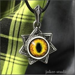 Магический символ семиконечная звезда магов купить в мастерской Джокер кулон глаз кота
