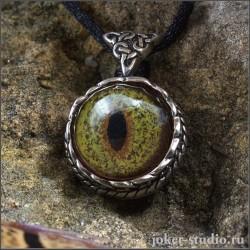 Кельтский амулет с глазом Виверны оригинальная подвеска ручной работы - Друид