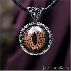 Друид кельтский кулон талисман глаз Игуаны украшение ручной работы