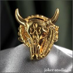 Роскошное мужское кольцо с головой быка