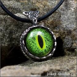 """Кельтский кулон с глазом """"Нильского крокодила"""" дизайнерское украшение ручной работы"""