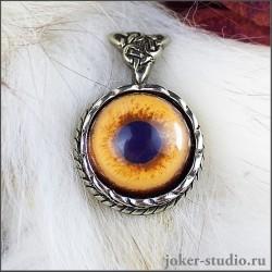 Амулет с глазом Амурского тигра и кельтским символом друидов