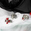 Красивые подарки на 14 февраля набор колец с символом праздника в кельтском стиле