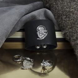 Стильный мужской комплект украшений с волком