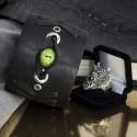 Кожаный браслет-талисман с глазом и кольцо с головой дракона