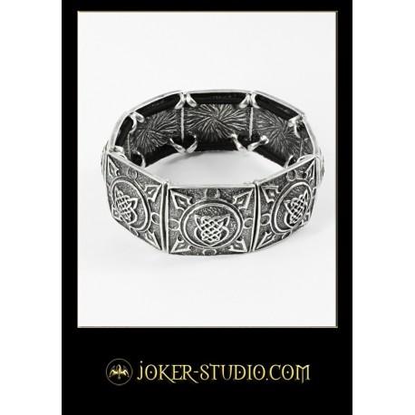Мужской браслет в кельтском стиле со щитом