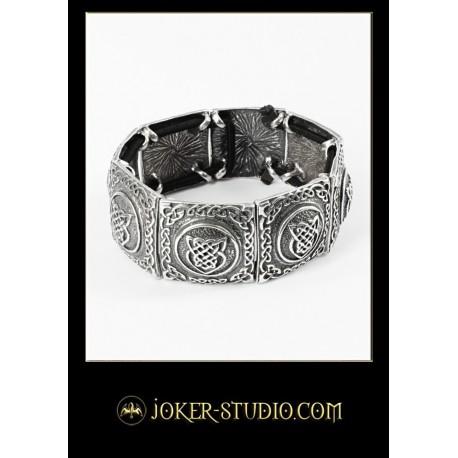 Мужской ювелирный браслет с кельтскими щитами стильный аксессуар