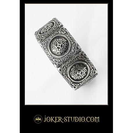 Женский браслет символ языческой богини Бригид красивая серебряная бижутерия