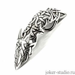 Модное мужское украшение кольцо на весь палец в кельтском стиле