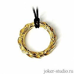 золотой кулон в форме кольца с кельтским узором подарить женщине