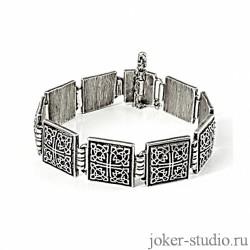 ювелирный серебряный браслет с кельтским узором
