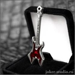 Кулон гитара Warlock с гравировкой хэви-метал символичный подарок для поклонника рок-музыки