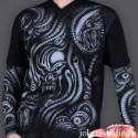 """Мужская футболка """"Кибер-готика"""" с тату рукавами"""