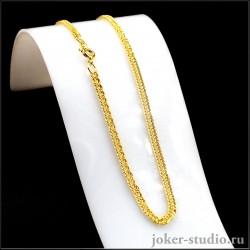 Цепочка змейка для кулонов и подвесок золотой бижутерии