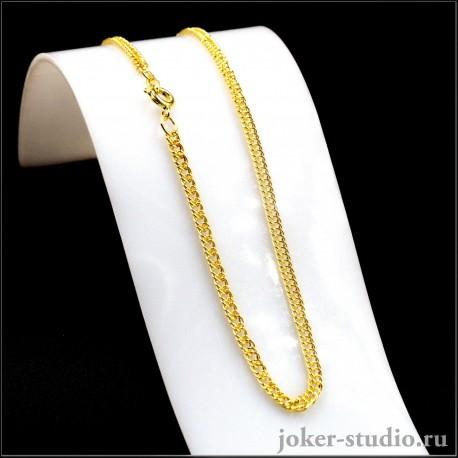 Цепочка змейка для кулонов и подвесок золотй бижутерии