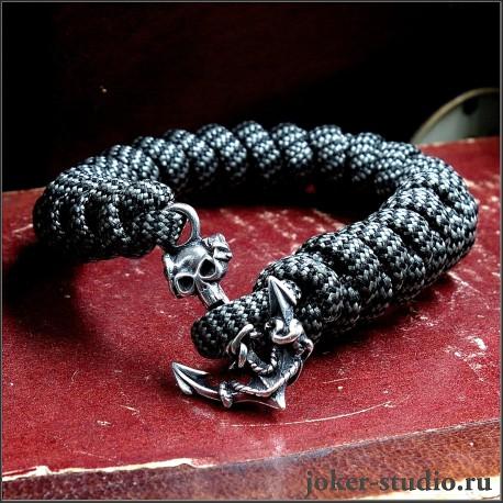 Мужской паракордовый браслет с застежкой якорь украшение пиратской символикой