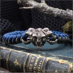"""Волшебное украшение """"Фавн"""" браслет из паракорда ручной работы с плетением змейка"""