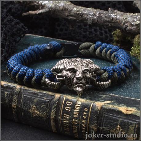 """Вошебное украшение """"Фавн"""" браслет из паракорда ручной работы с плетением змейка"""