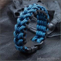 Широкий браслет из паракорда с плетением шина стильный аксессуар для гонщика