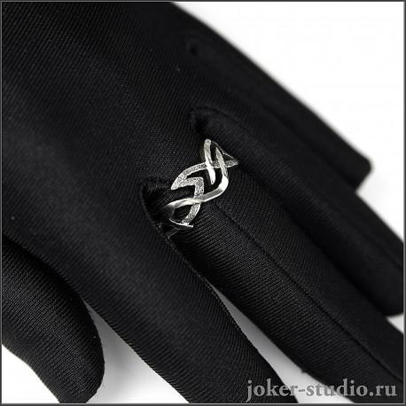 """Тонкое кольцо необычной формы для девушки оригинальное украшение """"Стрибог"""""""