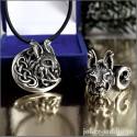 Кулон и кольцо с рысью красивый ювелирный комплект украшений с тотемной кошкой