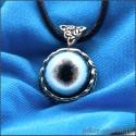 Кулон с кельтским узором и глазом рыси красивой кошки богини Фрейи