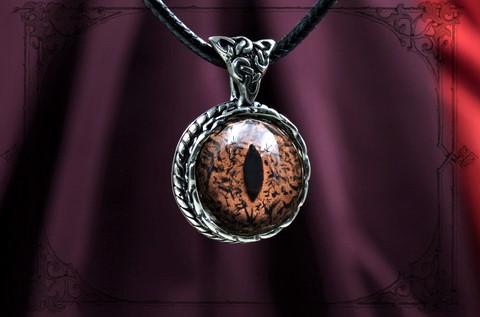 Женская ювелирная подвеска с глазом ящерицы игуаны красивый подарок жене