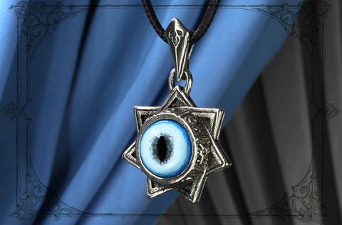 Амулет Звезда магов подвеска семиконечная звезда с глазом рыси